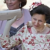 Zara's mother, Princess Anne, smiles after the wedding.