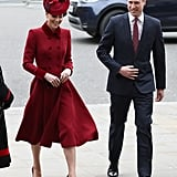 The Duke and Duchess of Cambridge at Commonwealth Day Service 2020