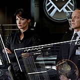Cobie Smulders as Agent Maria Hill and Clark Gregg as Agent Phil Coulson in The Avengers.  Photo courtesy of Disney
