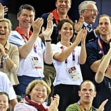 Prince William and Kate Middleton cheered in the stands.