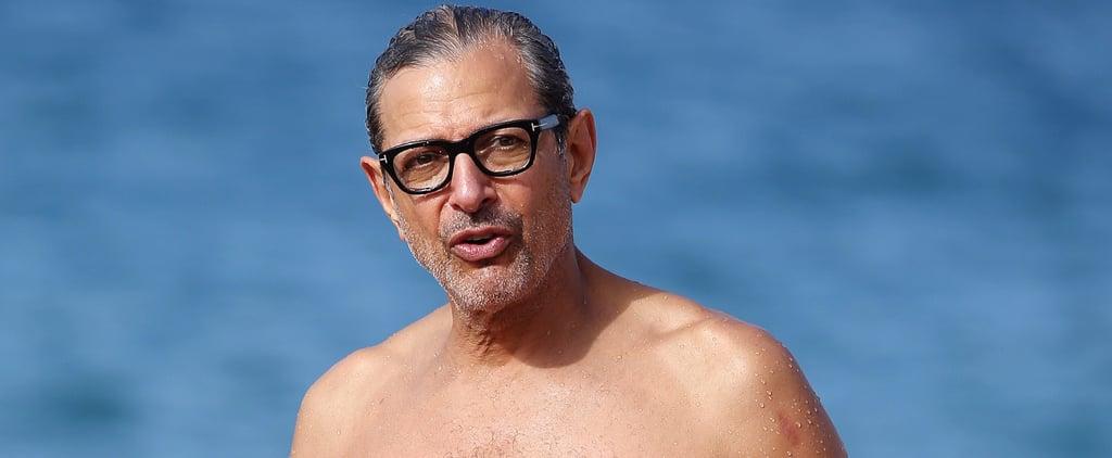 Your Dad Crush Jeff Goldblum Just Hit the Beach Shirtless in Hawaii
