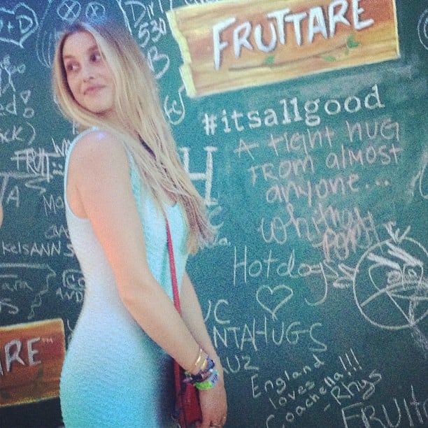 Whitney Port stopped by the Fruttare Fruit Bars lounge at Coachella on Friday.  Source: Instagram user popsugar