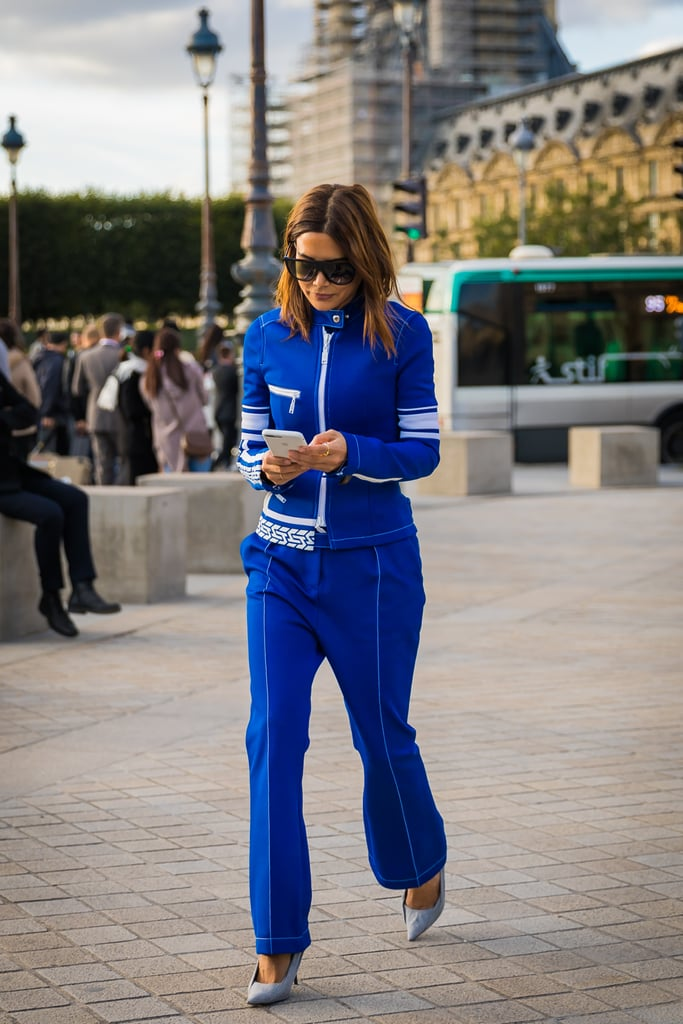 Christine Centenera's take on the tracksuit is bold on color with a streamlined fit, a winning combo.