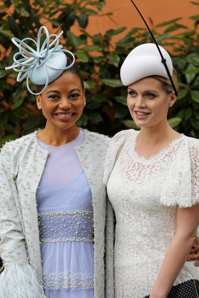 Viscountess Emma Weymouth and Lady Kitty Spencer at Royal Ascot