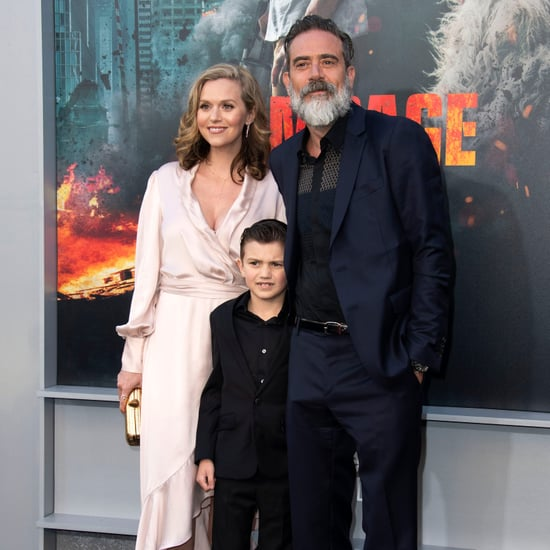 Jeffrey Dean Morgan and Hilarie Burton at Rampage Premiere