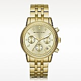 Not too pricey, this Michael Kors Stainless Steel Ritz Chronograph Glitz Watch ($250) is sure to be an instantly classic hit.