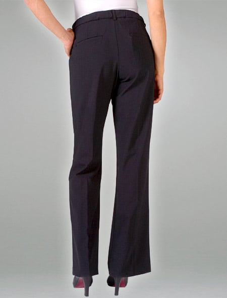 Adjustable Waist Stretch Wool Bootcut Trouser ($185)