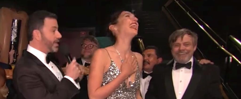Mark Hamill Introducing Himself to Gal Gadot at the Oscars