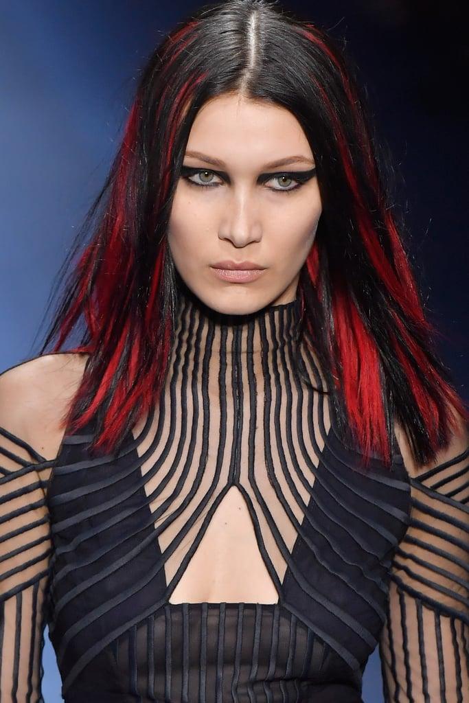 Bella Hadid Walking  the Versace Show during Milan Fashion Week Fall/Winter 2017/18