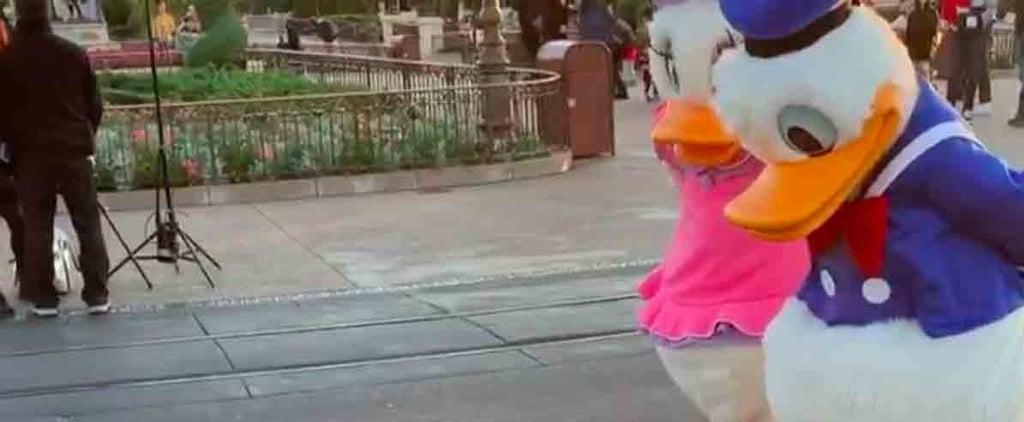 Donald and Daisy Duck Meet Real Ducks at Disney