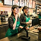 Customers Can Either Order by Using ASL With the Cashiers . . .