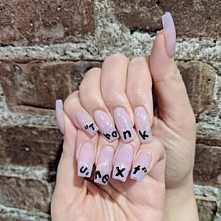 Thank U Next Nail Art 2018