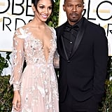 Jamie Foxx was joined by his daughter, Corinne, who was this year's Miss Golden Globe, at the Golden Globe Awards.