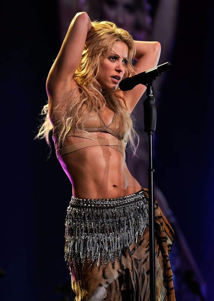 """These pictures don't lie — Shakira is stunning. Beyond her beauty, though, she's also an international pop-star powerhouse and one of the bestselling artists of all time, with """"Hips Don't Lie"""" becoming the bestselling single of the century in 2006, reaching No. 1 in 55 countries. The singer has more than a few award-winning hits to her name, and she's getting ready to add another milestone to her career: she's set to take the stage with Jennifer Lopez at the 2020 Super Bowl halftime show. Ahead of her performance, take a look at some of Shakira and partner Gerard Pique's cutest pictures, then check out Shakira's best snaps, year by year, including a fun look back at some of her earliest appearances!"""
