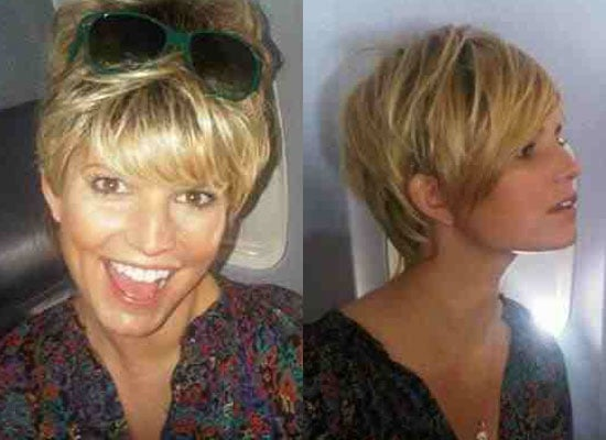 Photos of Jessica Simpson in a Short Wig