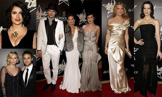 Demi Moore, Ashton Kutcher, Salma Hayek, Kate Hudson at the Art of Elysium Dominos Tournament