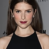 Bold: Anna Kendrick A deep-wine hue pairs perfectly with all black for something simple and iconic.