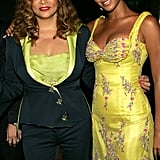 Beyoncé and her mother posed for pictures at a benefit auction to benefit VH1's Save the Music Foundation on June 23, 2005.