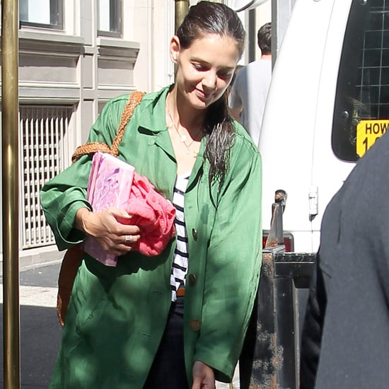 Katie Holmes and Suri Cruise Leave NYC Apartment