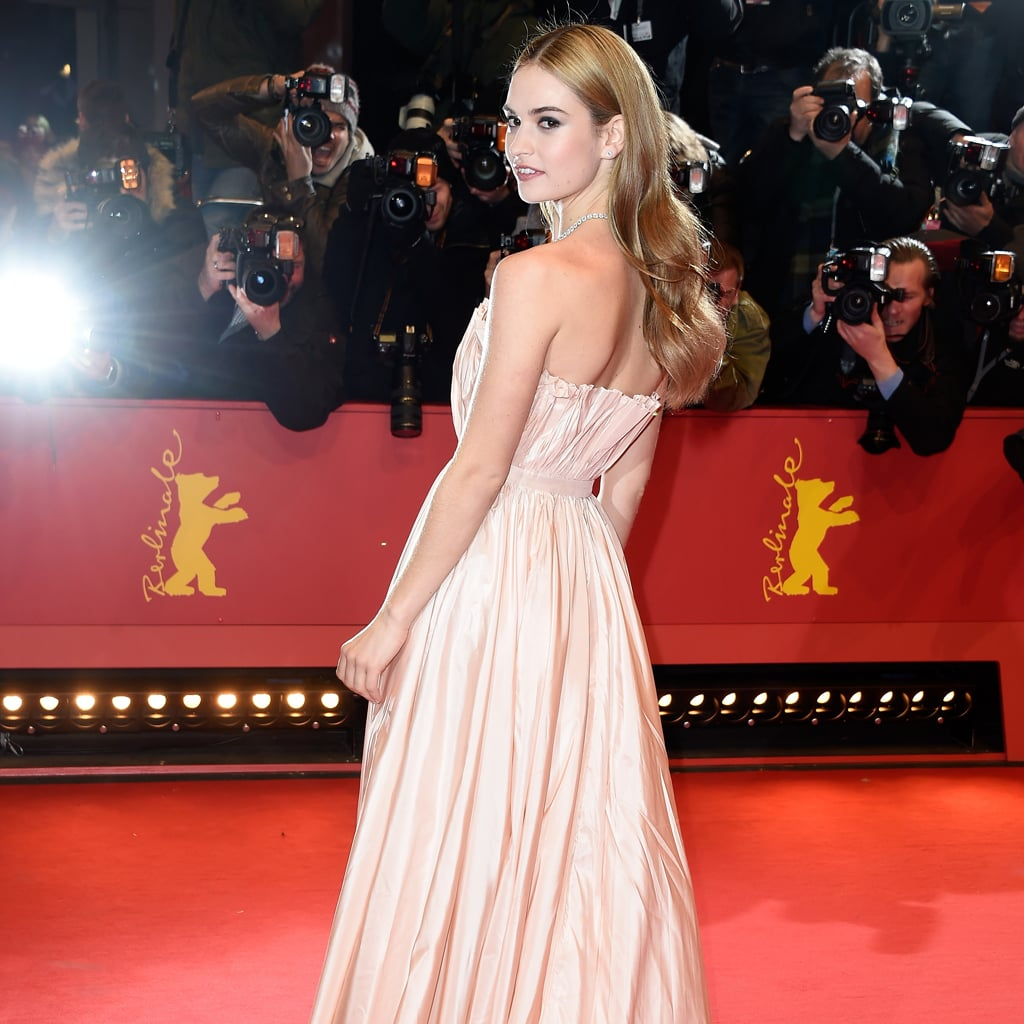 Lily James Just Had Her Own Cinderella Moment in Dior