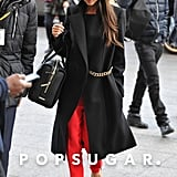 Victoria Beckham emerged for a fashionable Friday in London.