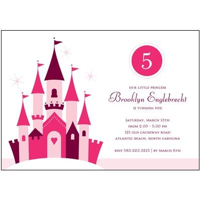 Pink Princess Birthday Party Invitation by Pear Tree Greetings