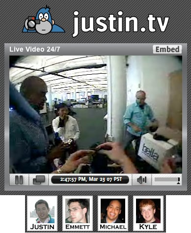 Live Blogging 24/7: Justin.tv