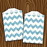 Layer Cake Shop's Blue Chevron Stripe Paper Bags ($4 For 24)