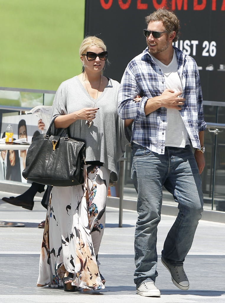 Jessica and Eric stepped out for a day date.