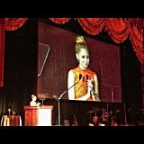 Nicole Richie spoke on stage at the FFANY Gala. Source: Instagram user nicolerichie