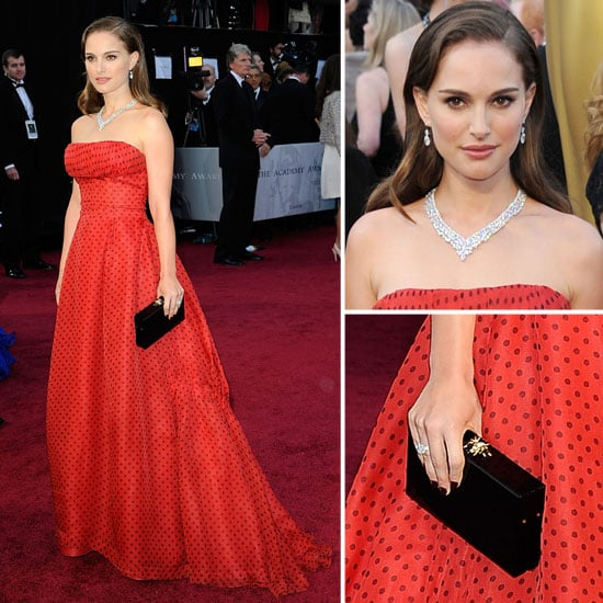 Natalie Portmans Wear Vintage Polkadot Christian Dior Gown to the 2012 Oscars: Do You Rate It?
