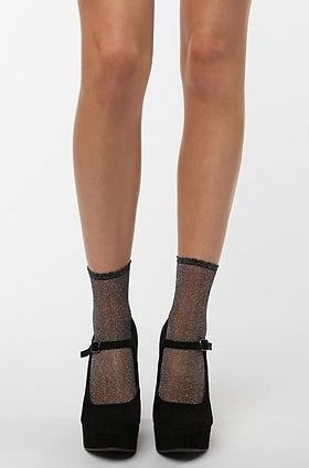 Urban Outfitters Sheer Sparkle Ankle Sock ($8)