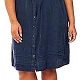 Rebel Wilson X Angels Chambray Button-Up Shirtdress