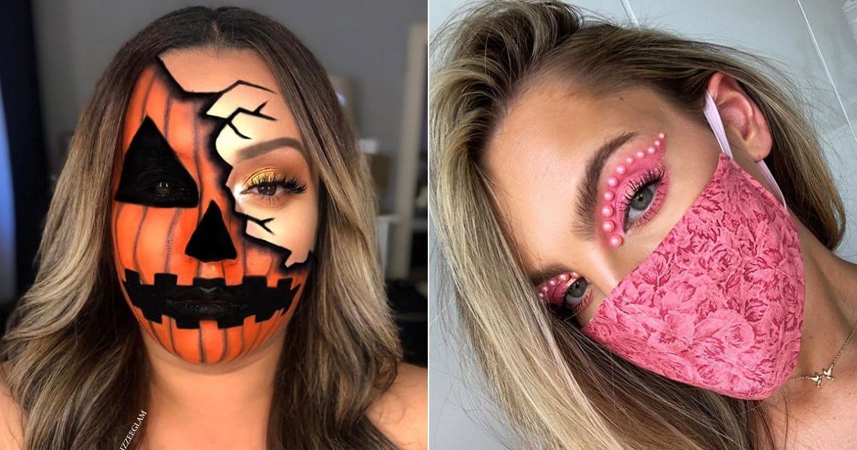 Halloween Makeup Ideas That Somehow Look Even Better With a Face Mask