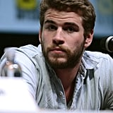 Liam Hemsworth was seated at the panel for Catching Fire.