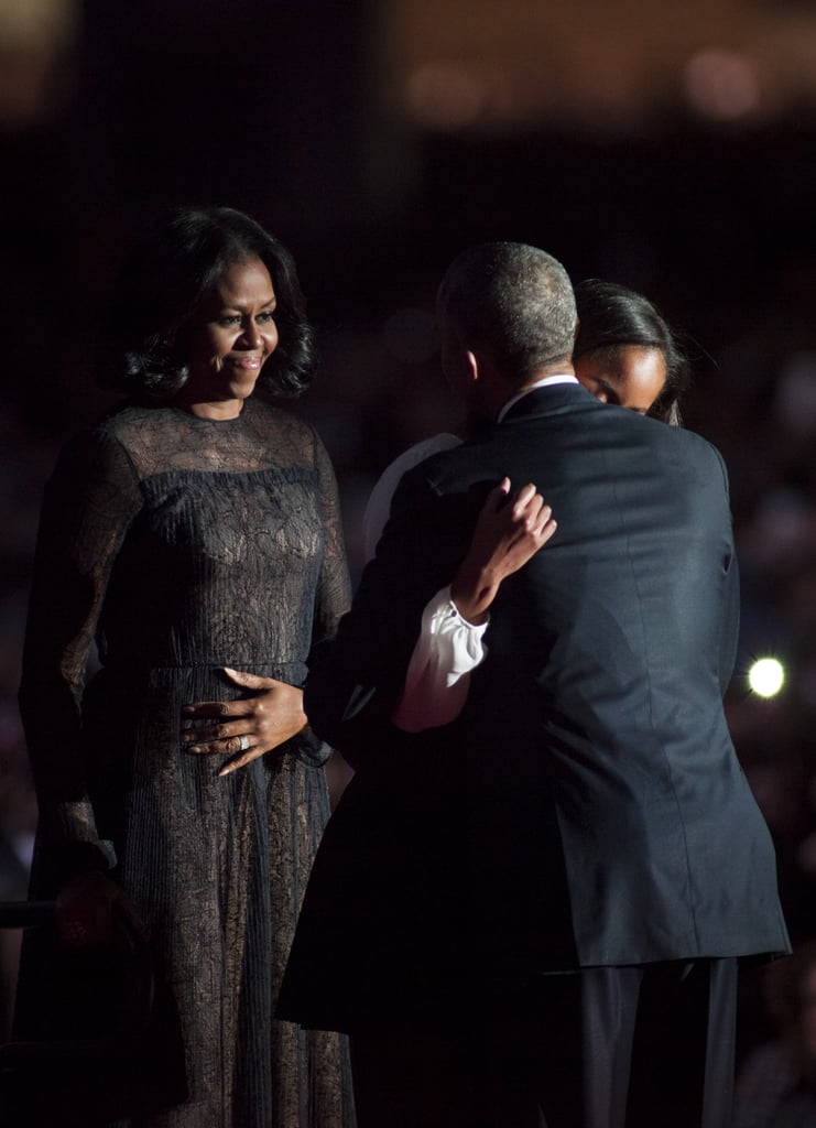 You Don't Have to Stare Long at Michelle Obama's Dress to Know It Has a Special Meaning