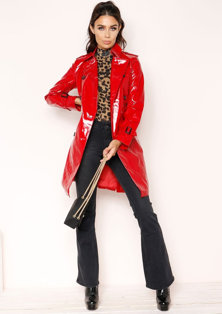 95409628d256e Missy Empire Charlotte Red Patent Trench Coat | Cheap Winter Coats ...