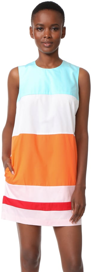 MDS Stripes Colorblock Shift Dress
