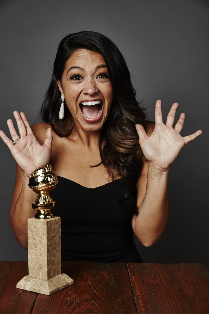 Gina Rodriguez struck gold at 2015's Globes, nabbing the award for best actress in a TV comedy. Clearly, she was thrilled.