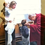 Ben and Vivian Brady had an audience with the Dalai Lama with their proud mom, Gisele Bündchen, looking on.