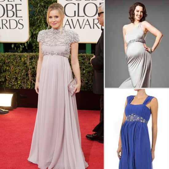 Steal Kristen Bell's Grecian Goddess Red-Carpet Maternity Style