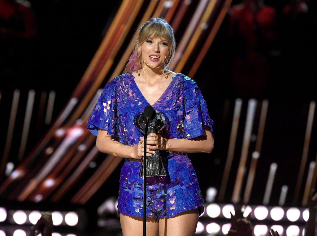 "Taylor Swift is incredibly grateful for her fans. On Thursday, the ""Delicate"" singer gave a shout-out to her dedicated Swifties as she took home the ""Tour of the Year"" award at the iHeartRadio Music Awards for her Reputation Stadium Tour. After calling out her haters who said the tour ""would be a flop,"" she made sure to thank her incredible fans for coming out to her shows — rain or shine. ""I owe everything in my life to you,"" she said. Of course, Swift couldn't help but give a subtle reference to new music during her speech. ""I also just wanted to say before I go that I love your passion, I love your attention to detail, I love how much you care, I love seeing all the things that you're posting online,"" she said, referencing all the theories about her social media posts. ""And I just want to let you know that when there's new music you'll be the first to know."" Ahhh! What does it mean?      Related:                                                                                                           I Knew Taylor Swift's Butterfly Shoes Were Trouble When She Walked In"