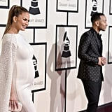 Chrissy Teigen Was a Pregnant Angel at the Grammys With John Legend
