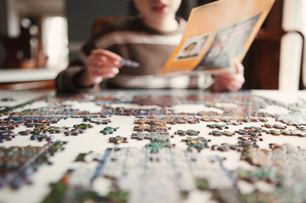 Finish a puzzle.