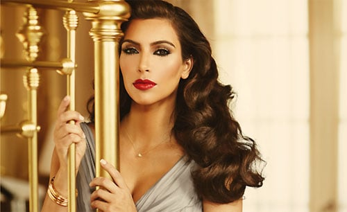 Kim Kardashian Channels Elizabeth Taylor in her Ad Campaign for True Reflection Fragrance