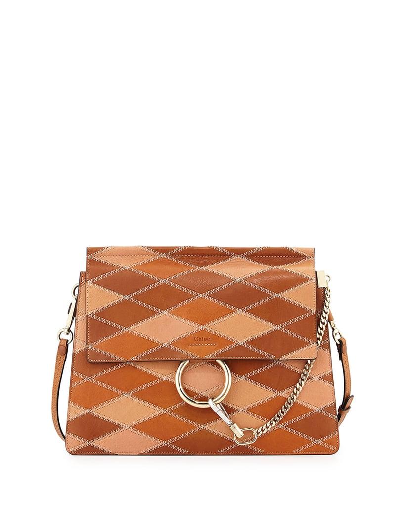 Chloé Faye Patchwork Leather Shoulder Bag ($3,450)