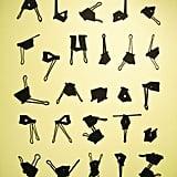 Office clip alphabet.