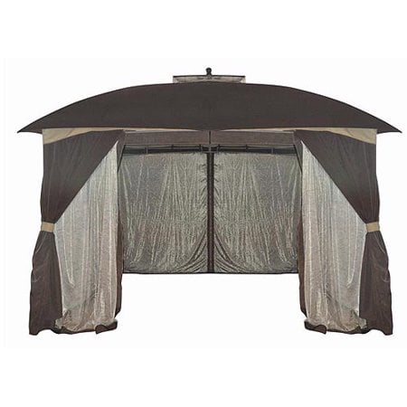 Botanical Patterned Sheer Netting Gazebo