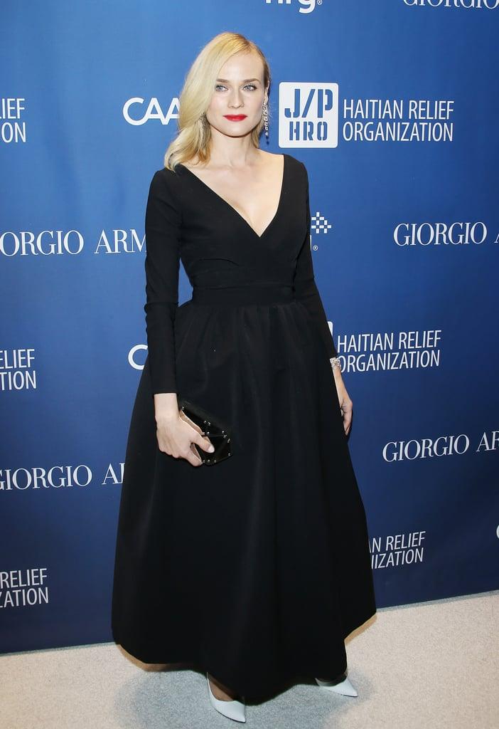 Diane Kruger Wearing Preen at the Help Haiti Gala in 2014