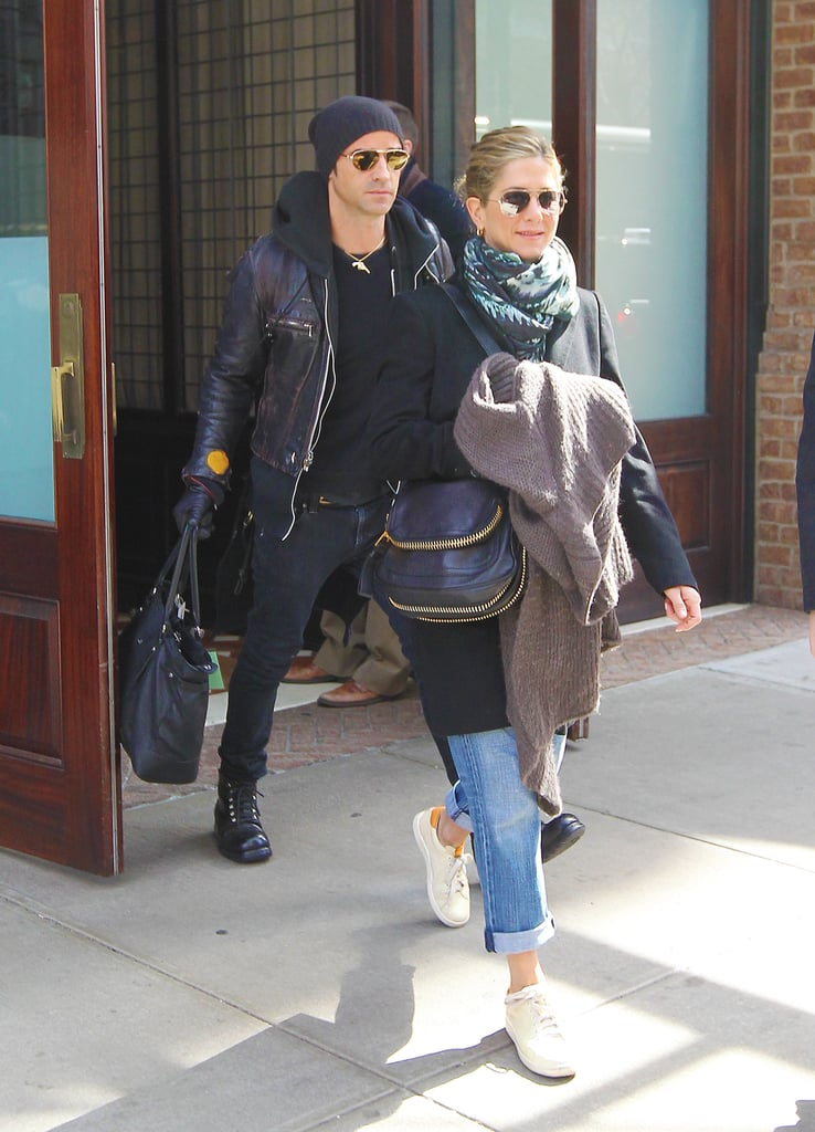 Jennifer Aniston and Justin Theroux Pictures Leaving ...